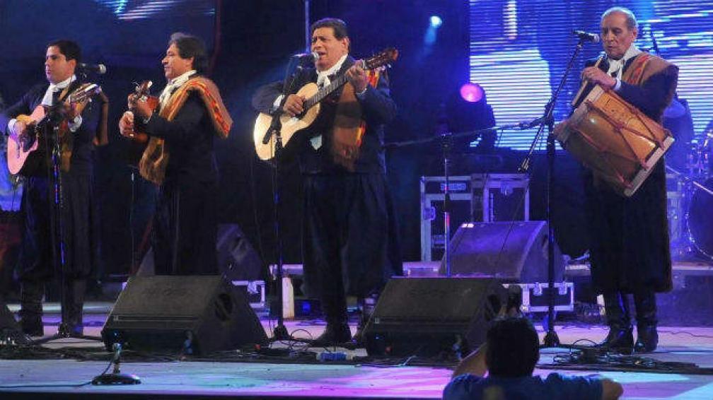 Los Manseros Santiagueños en su formación de cuatro integrantes. (Fotografía Facundo Luque).