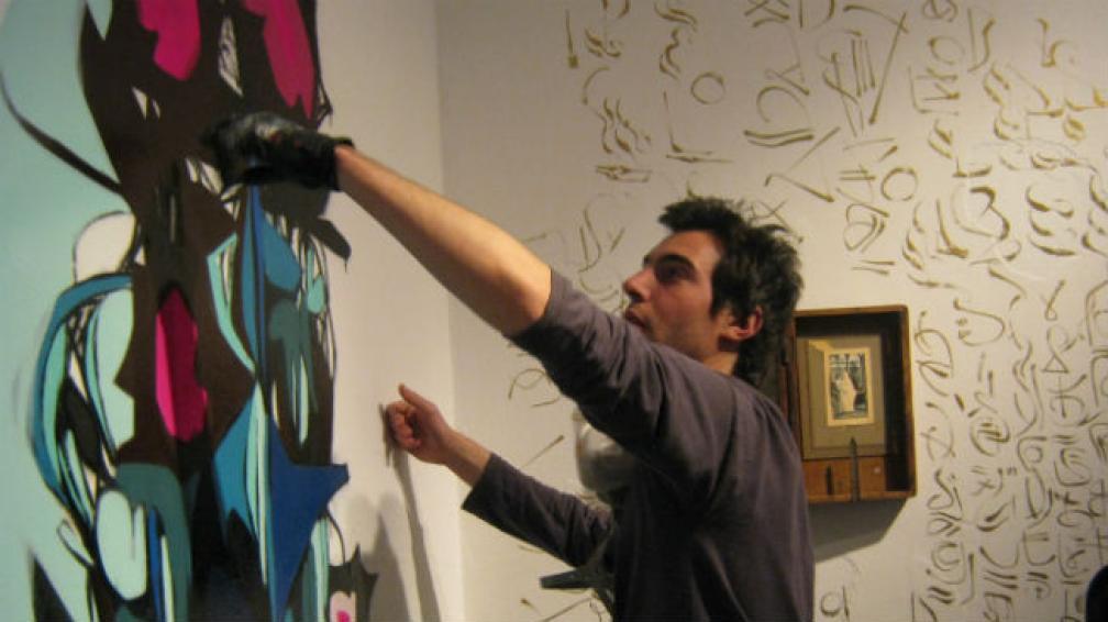 Santiago Panichelli, de Triángulo Dorado, en pleno proceso de trabajo.