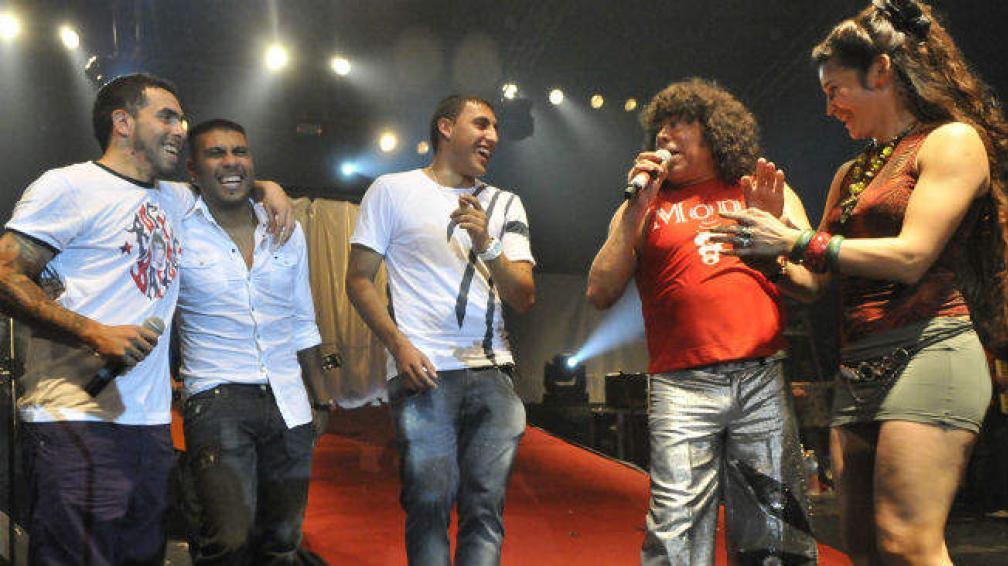 Carlitos Tévez, Daniel 'Hachita' Ludueña, Ramón 'Wanchope' Ábila y Chapita Gutiérrez.