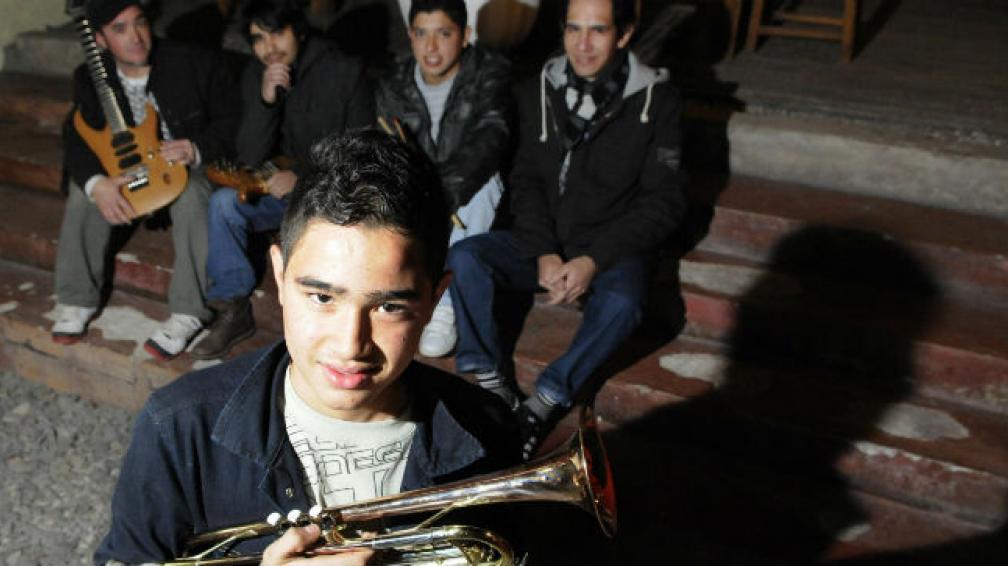 Pablo y el resto de La Reyska Band.