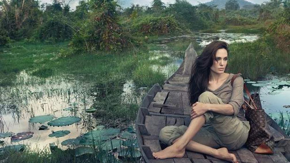 SOLIDARIA. Angelina donó sus honorarios a entidades benéficas. La foto, una obra de arte.