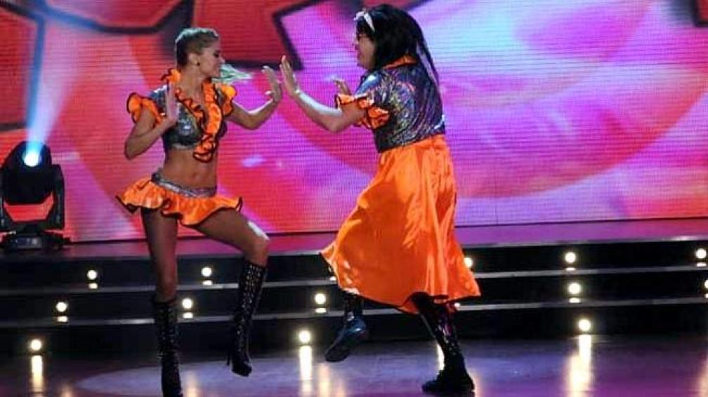 VANINA Y BRIGIDA, sorprendieron con su performance.
