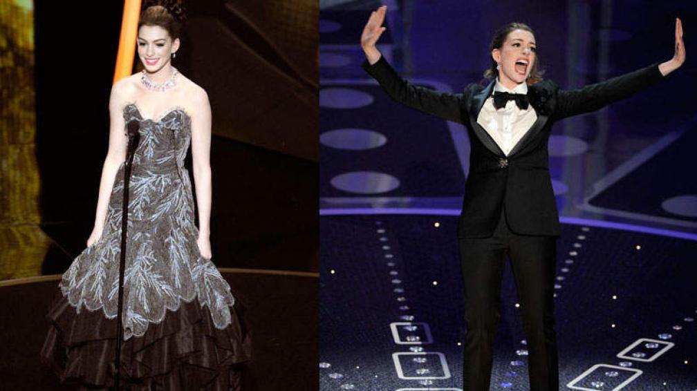 SHOW PROPIO. Anne Hathaway, anfitriona de los últimos Oscars.