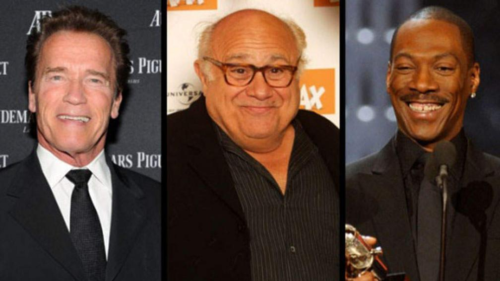 """Se agranda la familia. Danny De Vito, Arnold Schwarzenegger y Eddie Murphy serían """"Trillizos""""."""