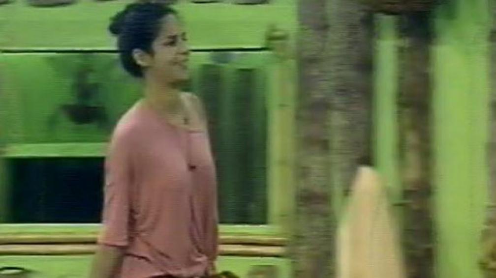 CLARISA ABREU. La uruguaya al momento de entrar a la casa de GH. Captura Web.
