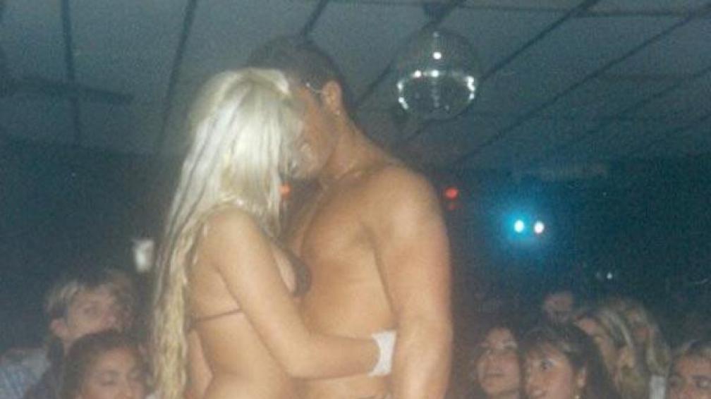 JÉSICA CIRIO. En un show erótico hace varios años. Fotos: Diario Muy.