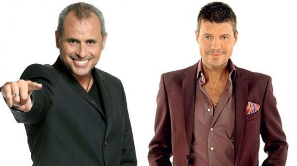 Jorge Rial y Marcelo Tinelli, los más influyentes de la farándula local.