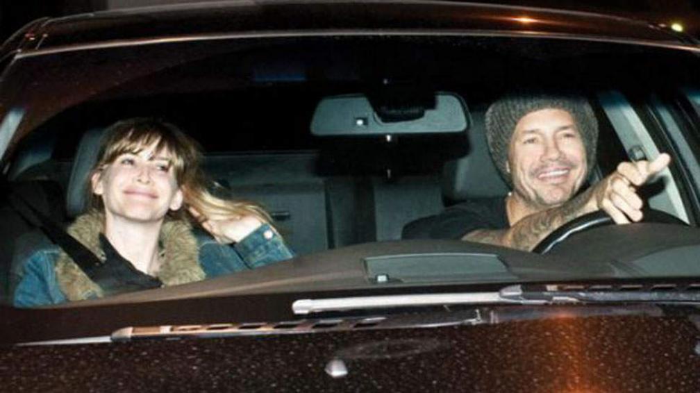 Guillermina Valdés y Marcelo Tinelli en una de sus primeras fotos juntos.