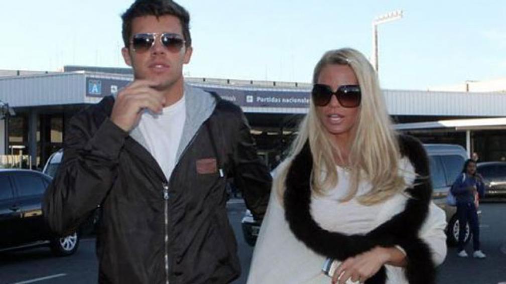 PENNA Y PRICE. Aquí, en su llegada a Argentina, cuando todavía estaban juntos.