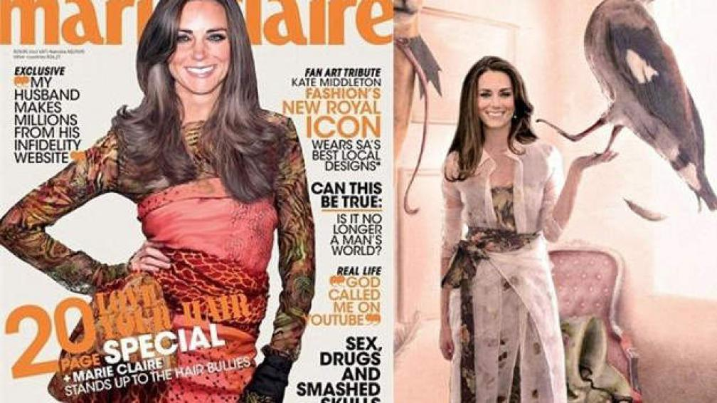Fotomontaje: es la cara de Kate Middleton, sí, pero el cuerpo es de una modelo.