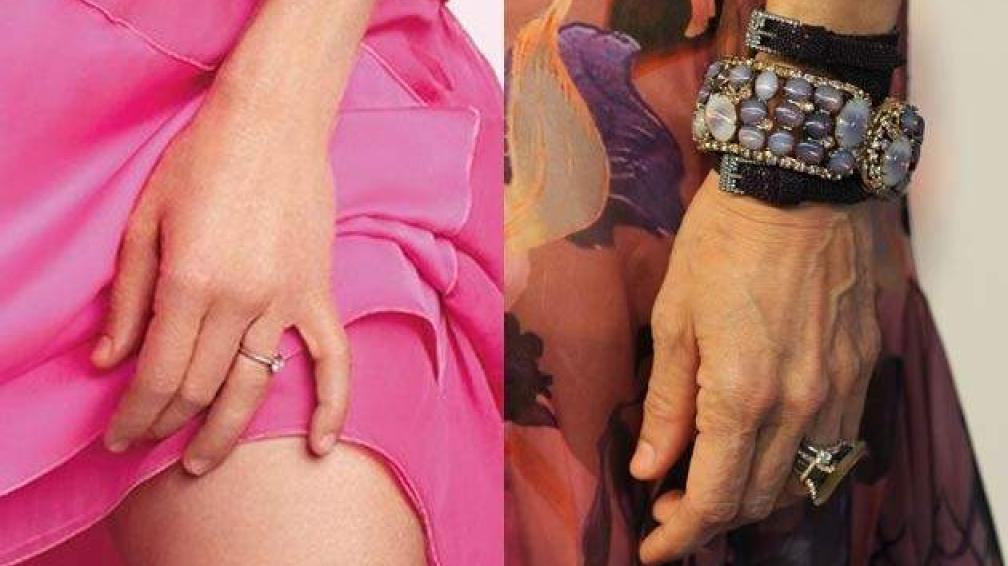 Foto: Virgula. Las manos de Sarah Jessica Parker para la revista Marie Claire y en una foto sin retoques.