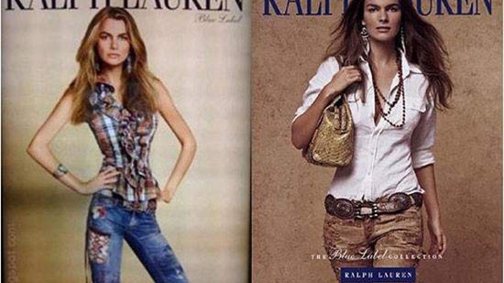 Cintura diminuta en la polémica campaña de Ralph Lauren.