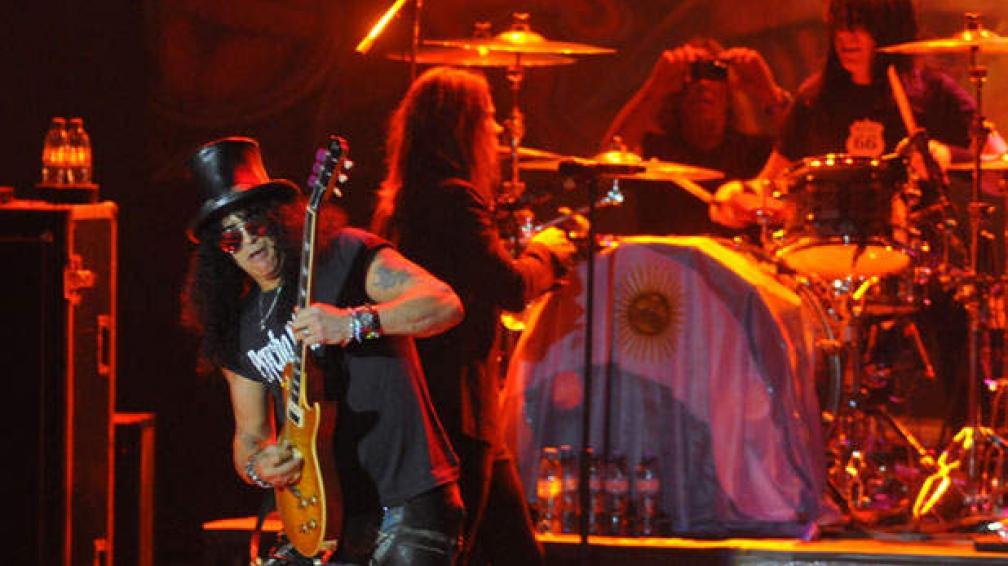 Altìsimo voltaje en el show de Slash. Foto: Martín Báez.