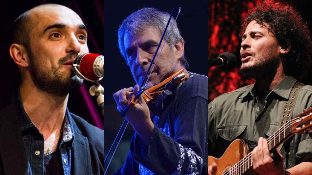 Abel Pintos, Peteco Carabajal y Raly Barrionuevo. Tres infaltables.