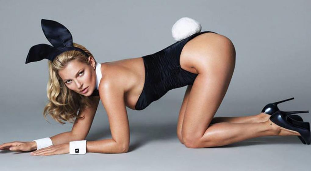 Primera foto de la nueva producción de Kate Moss para Playboy