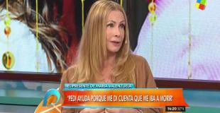 """El drama de María Valenzuela: """"Me di cuenta que me iba a morir si seguía así"""""""