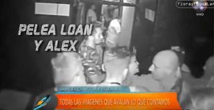 Se conoció el video de la pelea entre Alexander Caniggia y Loan en un boliche