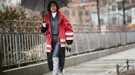 Truco de estilo: cómo usar camperas de jean este invierno