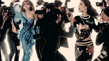 Las hermanas sean unidas: Hadid x2 en la nueva campaña de Moschino