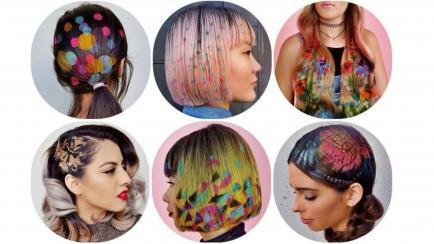 ¿Usarías stencil para teñirte el pelo? Así lucen quienes se animaron a esta moda