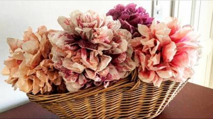 Flores de papel para decorar tu casa