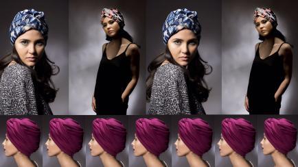 Mirá lo linda que podés lucir con un turbante de diseño