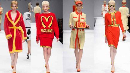 El divertido desfile de Moschino inspirado en la comida rápida