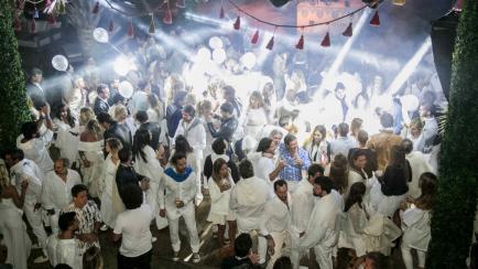 Así se divertían los famosos en la fiesta de blanco de Chandon en Punta del Este