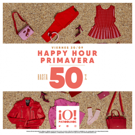 Happy Hour de Patio Olmos con descuentos de hasta el 50%
