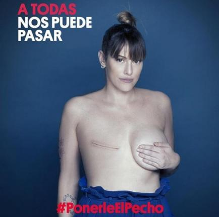 Imponente campaña con famosas para detección del cáncer de mama