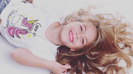 La hija de Evangelina Anderson y Martín Demichelis debutó como modelo