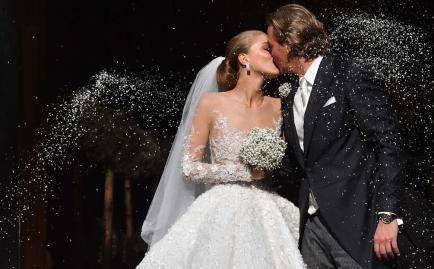El increíble vestido de novia de Victoria Swarovski con 500.000 cristales