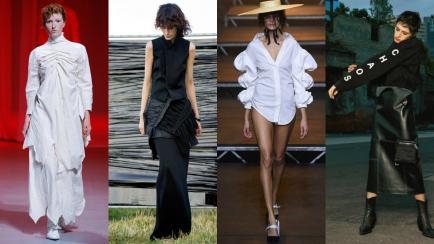 Pasarela en blanco y negro: 9 looks monocromo en la Semana de la moda de París