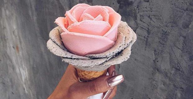 La imaginación al poder: mirá estas flores con helado y aprendé a hacerlas