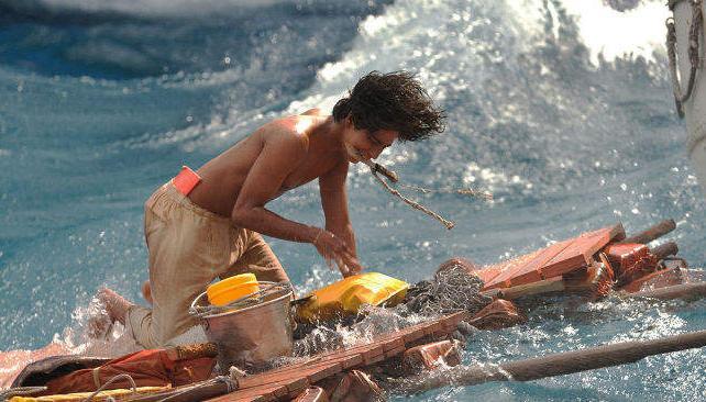 En la historia, un joven naufraga en el Pacífico y debe sobrevivir en un bote, junto a un tigre.
