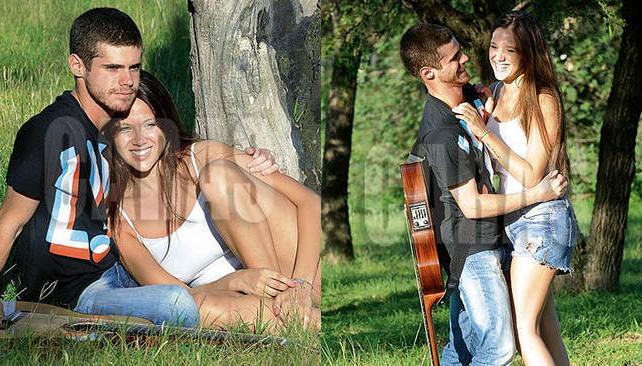 Gastón Soffritti y Barbarita Vélez, juntos y enamorados en Carlos Paz. (Fotos: Revista Caras)
