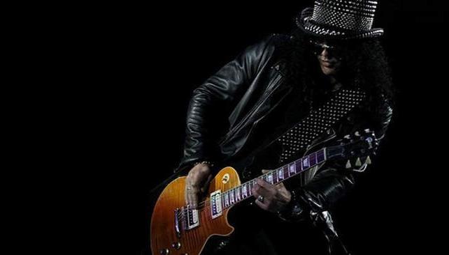 Hasta los duros como Slash tienen su costado infantil (imagen web).
