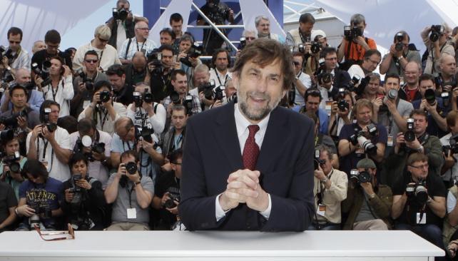 Nani Moretti tiene una manera particular de hacer su tarea de jurado en Cannes.