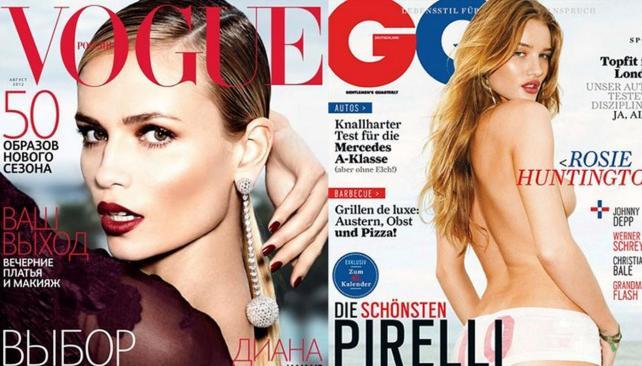 En Vogue, ¿dónde está el codo?. Y en GQ, ¿qué pasó con Rosie Huntington?