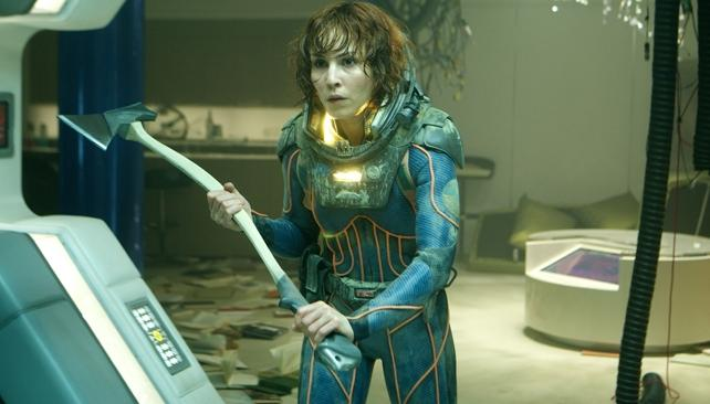 Noomi Rapace es la figura femenina de 'Prometeo'.