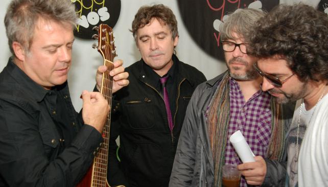 Residuales, la juntada de Juanchi Baleirón, Rodrigo Manigot, Manuel Moretti e Iván Noble.