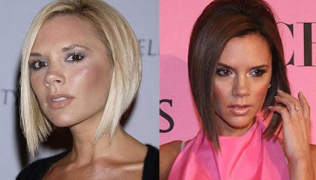 OBSESIVA. Vicky Beckham cambia el color de pelo tantas veces como prendas tiene en su vestidor. La tribuna la prefiere morena.