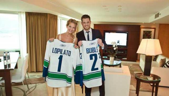 LUISANA Y MICHAEL. Ahora se casaron en Canadá.