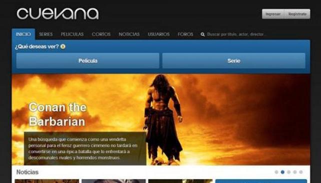 NUEVO DISEÑO. Así se ve el nuevo diseño de Cuevana que estrenó hoy.
