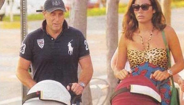 FLOR DE LA V, su marido Pablo Goycochea, y sus mellizos (Fotos de Revista Gente)