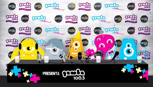 Cada una de las cinco radios está representada por un monstruito distinto, en las gráficas de presentación de la nueva plataforma web.