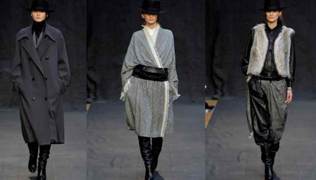 DISTINTA. Así fue la colección que mostró Hermès, con pantalones de volumen y abrigos largos. En la primera foto de izquierda a derecha, aparecen las chaquetas que todo invierno necesita