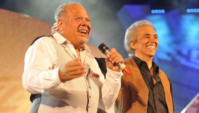 """Cacho Buenaventura invitó a Jairo para cantar juntos """"Virgen morenita"""". Fotos: Pedro Castillo/La Voz."""