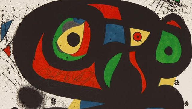 Uno de los grabados de Joán Miró que se verán en Córdoba a fin de mes.