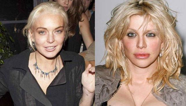 Lindsay Lohan y Courtney Love, dos mujeres problemáticas (imagen web).